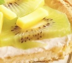 Tarta de frutas tropicales