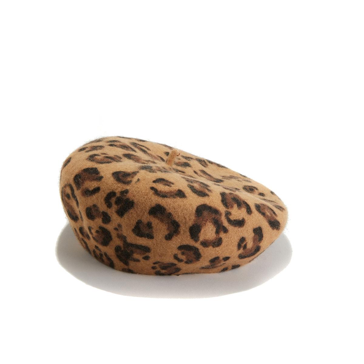 Boina con estampado leopardo