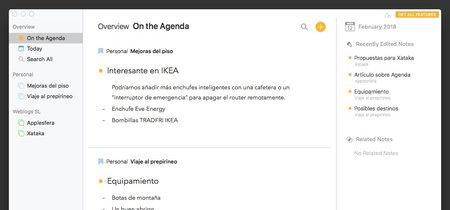 Agenda, la aplicación que intenta unificar todo nuestro planning: App de la Semana