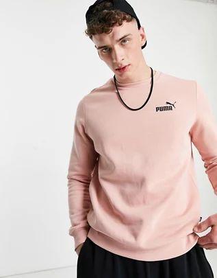 Sudadera rosa con logo de Puma Essentials