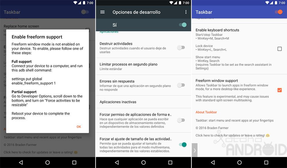 Permitindo janelas flutuantes Android 7.0 Nougat