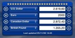 CurrencyConversor: Widget para calcular el cambio entre monedas, que se actualiza solo
