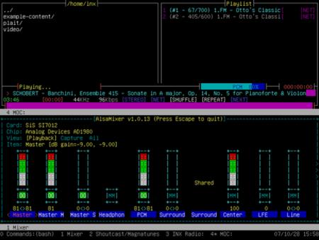INX, Linux desde un terminal de texto