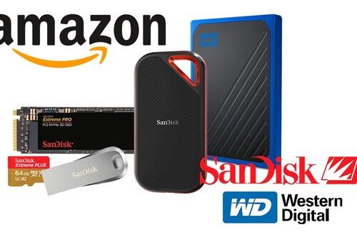 Ofertas en almacenamiento SanDisk y Western Digital: discos duros internos, portables o de sobremesa, pendrives y tarjetas de memoria a los mejores precios