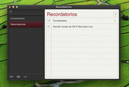 apple os x mountain lion mac recordatorios icloud