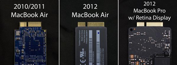 Unidades SSD de Apple