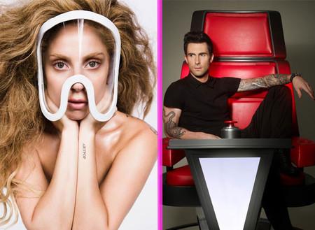 Lady Gaga y Adam Levine, a bofetón limpio por Twitter: muy educaditos, eso sí