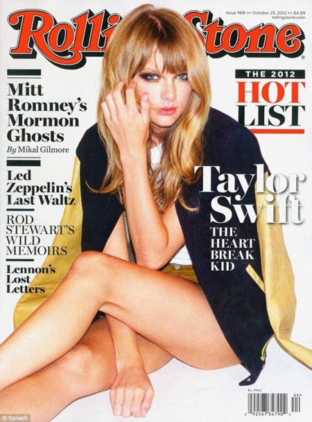 ¡Cazada! Taylor Swift no necesitó estilista en la portada de Rolling Stone