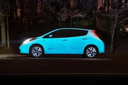 ¿Un Nissan Leaf que brilla en la oscuridad?
