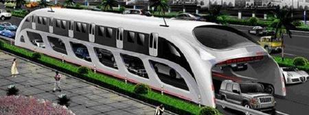 Proyecto chino para construir un autobús para 1200 pasajeros