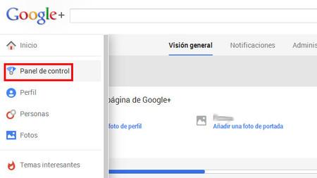 Nuevo panel de control para las páginas de Google +