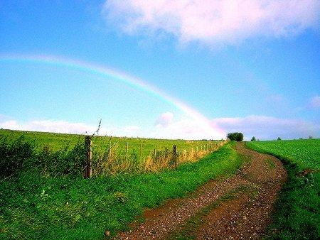 Arcoíris en el campo