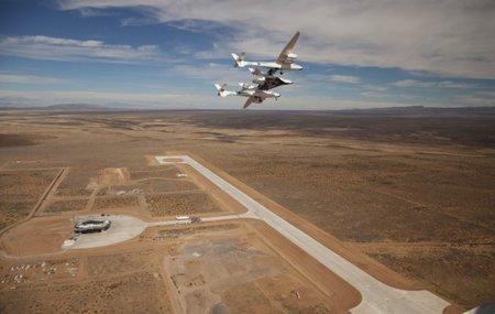 Spaceport: el aeropuerto espacial privado de Richard Branson terminó su primera pista