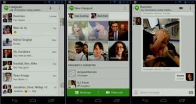 Google presenta Hangouts, su esperada aplicación de mensajería multiplataforma