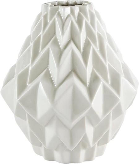 Rivet Jarron De Gres Para Flores Diseno Geometrico Moderno 17 5 Cm BlancoRivet Jarrón de gres para flores, diseño geométrico moderno, 17,5 cm, blanco