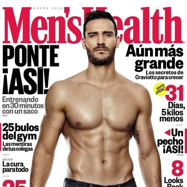 Alucinante cuerpazo el de Saúl Craviotto en la portada de enero de Men's Health