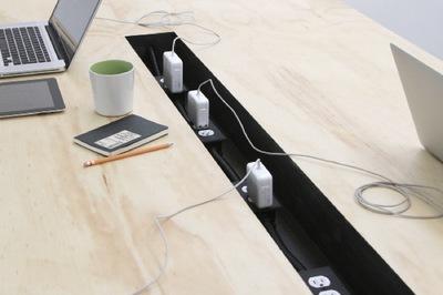 Una mesa perfecta para espacios de coworking