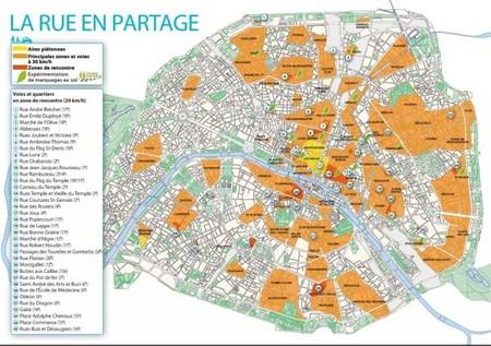 Zonas de velocidad limitad en París