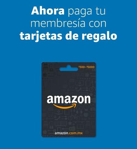Ahora puedes pagar Amazon Prime con tarjetas de regalo en México