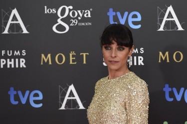 Ingrid Rubio con vestido brilli-brilli de The 2nd Skin en los Goya 2015