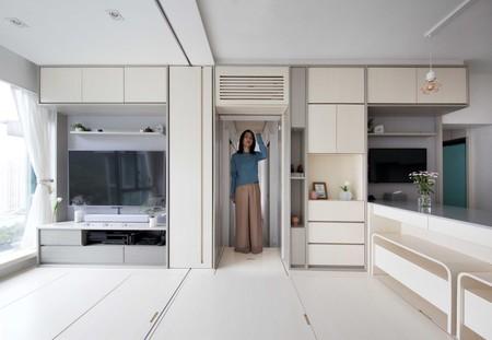 De dos a cuatro habitaciones y sin muebles: una mirada a los minipisos tecnológicos de Hong Kong con almacenamiento inteligente