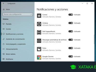 Cómo desactivar todas o sólo algunas notificaciones de Windows 10