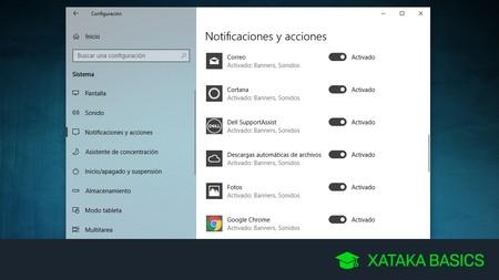 Cómo desactivar todas las notificaciones en Windows 10
