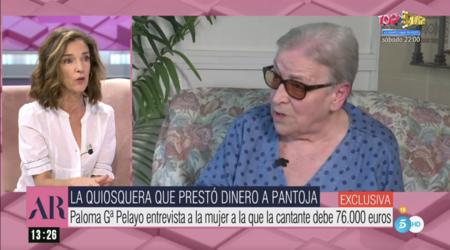 Paloma García Pelayo entrevista a Loli, la quiosquera a la que la Pantoja debe 76.000 euros desde 2014