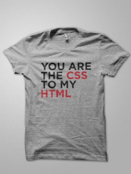Camiseta You Are The CSS to My HTML