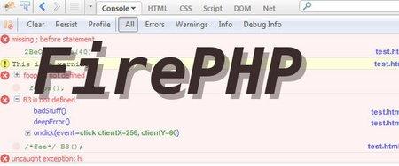 FirePHP, depurando código PHP desde Firebug