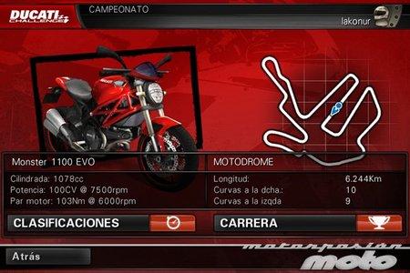 Pantalla del trofeo fácil de Ducati Challenge