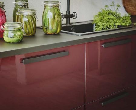 Frente Cocina en rojo Ikea