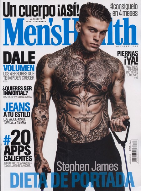 Stephen James Mens Health Spain 2015 Cover
