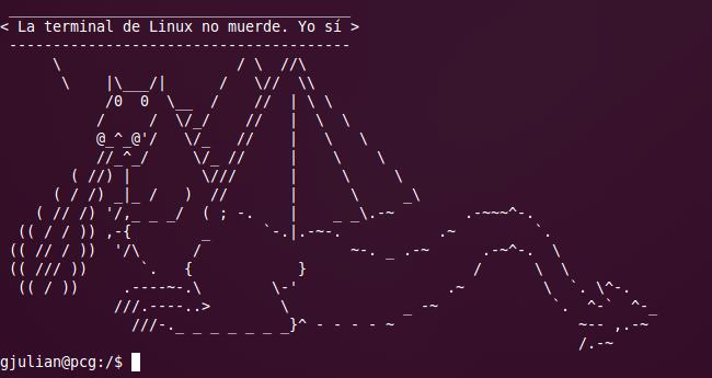 La terminal de Linux no muerde. Yo sí.