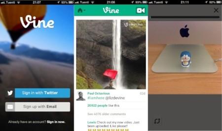 Vine se actualiza con soporte para la cámara frontal de los iPhone
