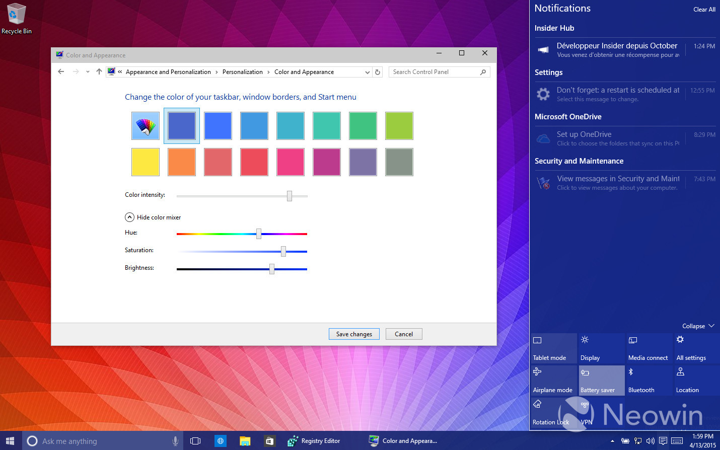Foto de Temas de colores en Windows 10 build 10056 (1/16)