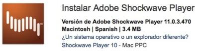 Adobe lanza Shockwave 11, compatible con Mac OS X