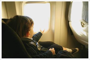En los aeropuertos con un bebé