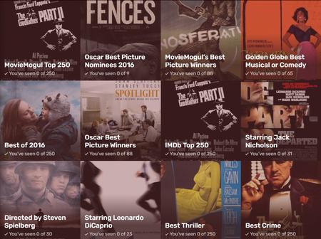 Descubre cuantas de las mejores películas de todos los tiempos has visto con esta aplicación