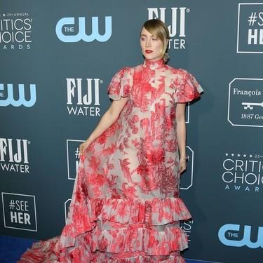 El vestido de Erdem de Saoirse Ronan en los Critic's Choice 2020 que perfectamente podría haber aparecido en Mujercitas