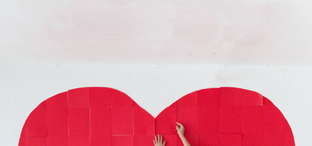 Hazlo tú mismo: un corazón gigante para tu pared en el día de San Valentín