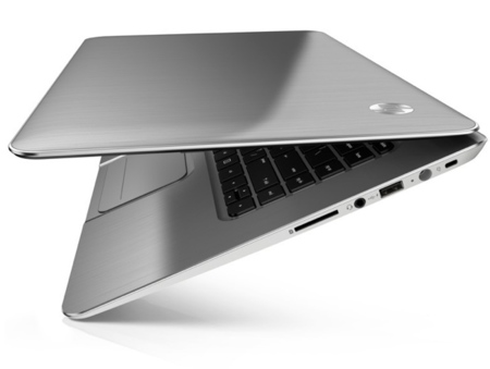 HP Envy Spectre XT touchsmart colocado de lado