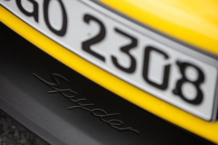 Porsche 718 Spyder labio delantero