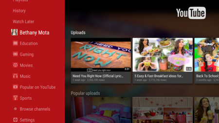 YouTube para Android TV llega a Google Play