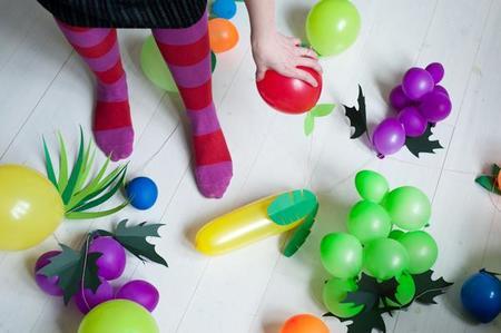 Hazlo tú mismo: globos con forma de frutas para fiestas infantiles