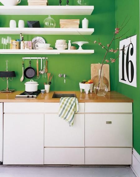 11 ideas para usar el verde en las cocinas - Pintar paredes cocina ...