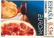 La gastronomía en los sellos