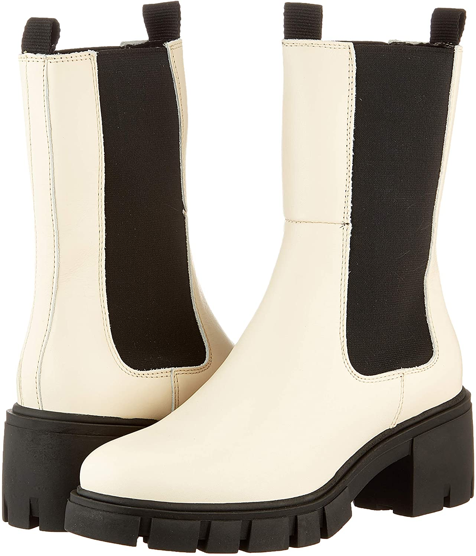 VERO MODA Vmrikko Leather Boot, Botas Cortas al Tobillo Mujer