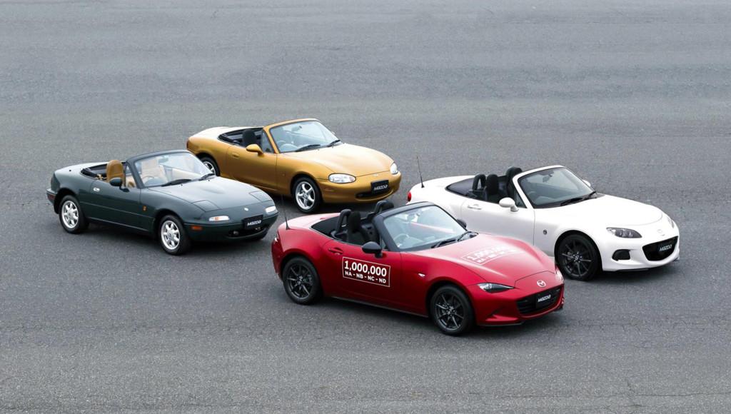 Mazda MX5 4 cuatro generaciones