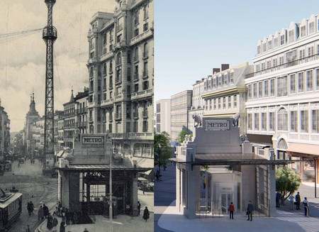 La Gran Vía de Madrid recuperará su templete histórico de entrada al Metro